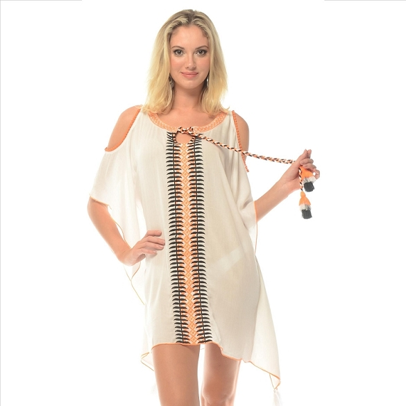 Cold Shoulder Cover-Up - White