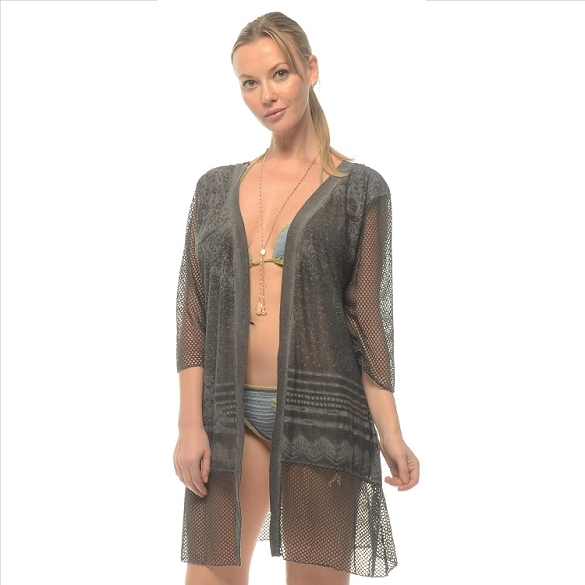 Sheer Lacy Cover-Up - Black