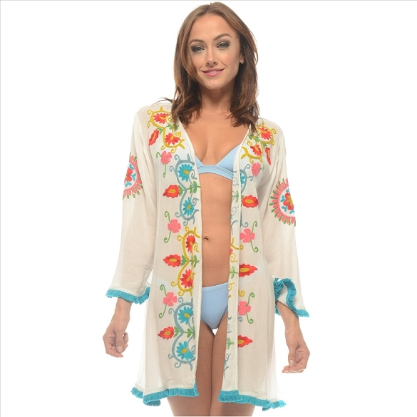 Embroidered Cover-Up - Ivory