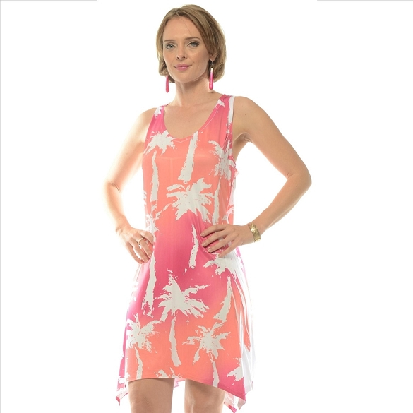Palm Tree Racer Back - Pink