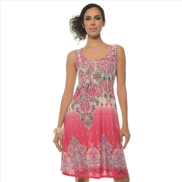 Awesome Paisley Print Dress - Pink