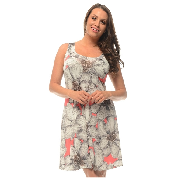 Keepin' It Casual Floral Dress - Pink