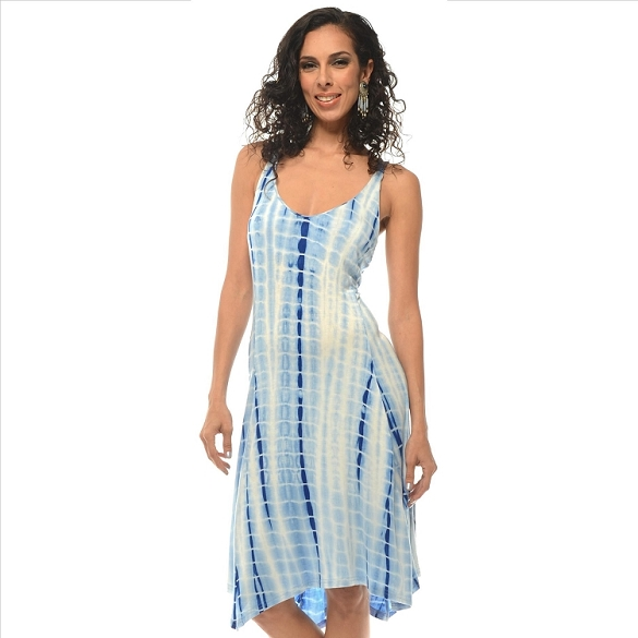 Tie Dye Racer Back Dress - Blue SAMPLE