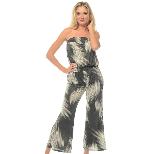 Strapless Jumpsuit - Grey