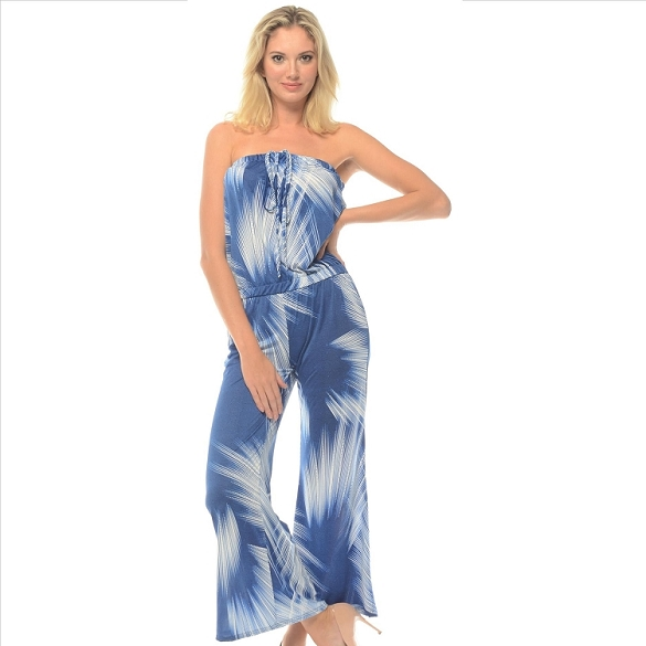 Strapless Jumpsuit - Blue