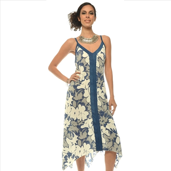 Strappy Floral Maxi - Blue