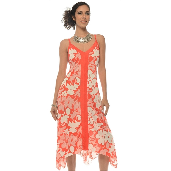 Strappy Floral Maxi - Coral