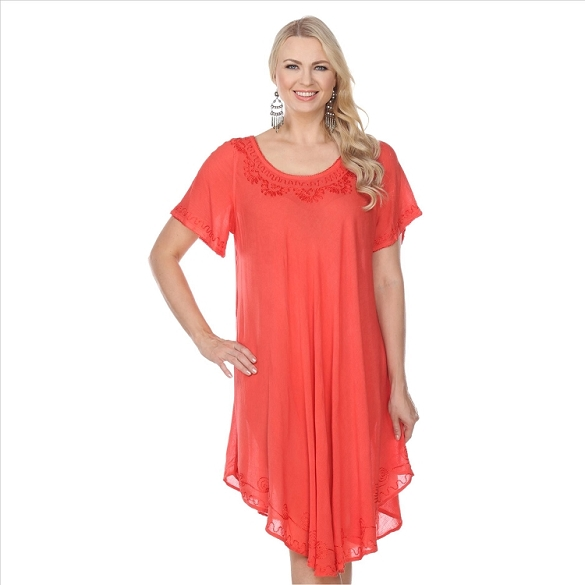 Back to Basics Umbrella Dress - Coral