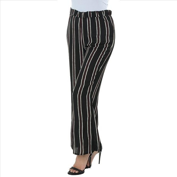 Pinstripe Pants - Wide Stripe - Black