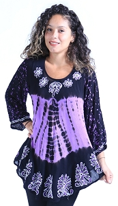 Trendy Boho Tunic - Purple