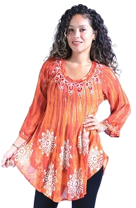 Free Spirited Tunic - Rust