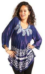Boho Print Tunic - Purple