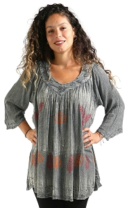 Leaves Tunic - Grey