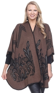 Floral Print Wrap - Taupe