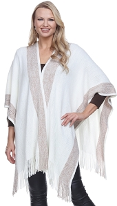 Cashmere Feel Sparkle Wrap - Ivory
