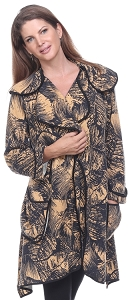 Abstract Print Jacket - Champagne