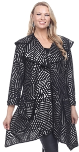 Amazing Foil Print Jacket - Black & Silver