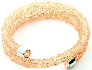 Crystal Dust Bangle - Peach