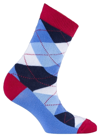 Women's Argyle Crew Socks #4003