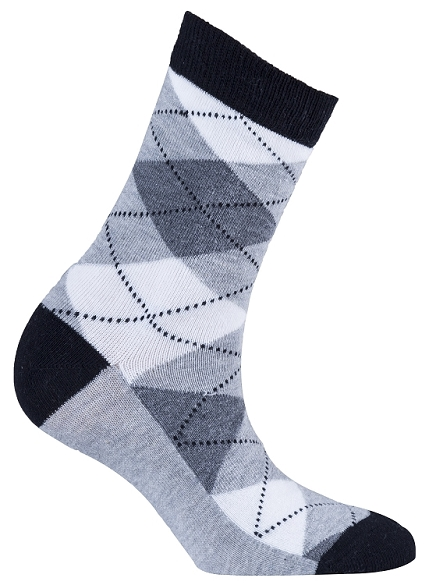 Women's Argyle Crew Socks #4004