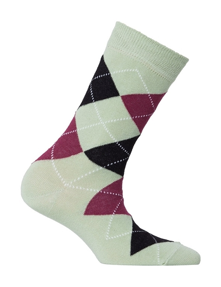 Women's Argyle Crew Socks #4005