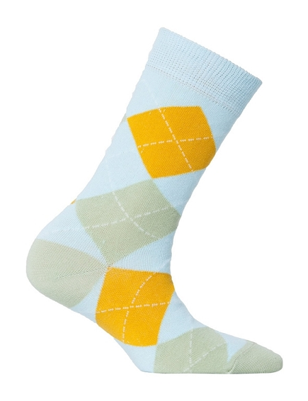 Women's Argyle Crew Socks #4011