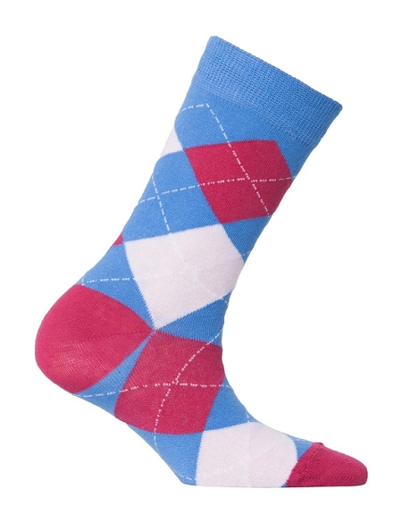 Women's Argyle Crew Socks #4014