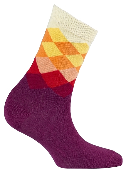 Women's Diamond Crew Socks #4015