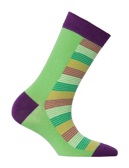 Women's Solid Crew Socks #4096