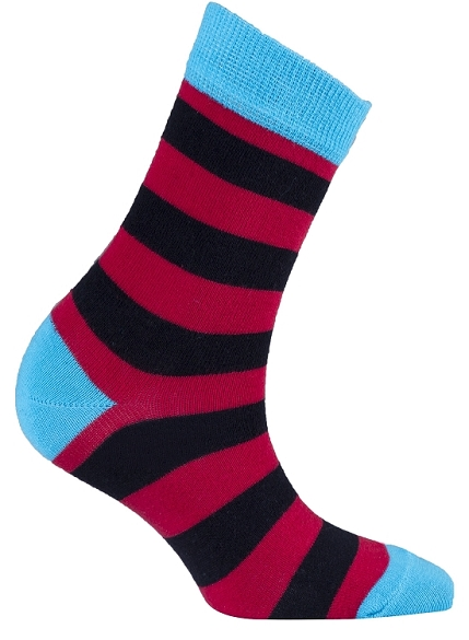 Women's Stripe Crew Socks #4077