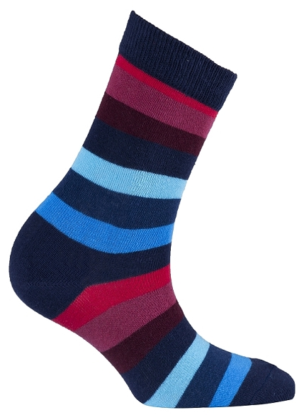 Women's Stripe Crew Socks #4084