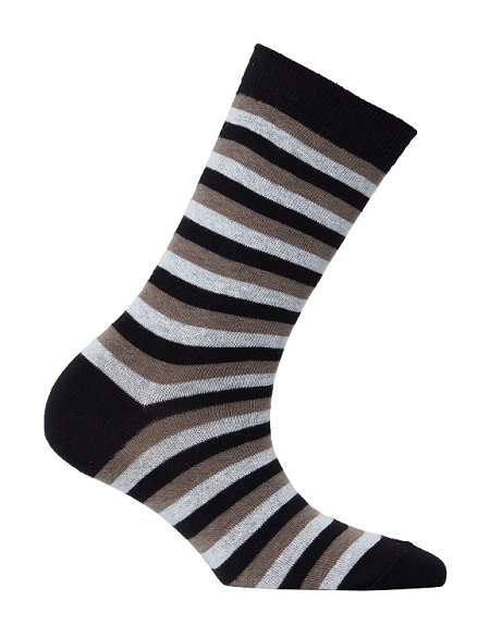 Women's Stripe Crew Socks #4090