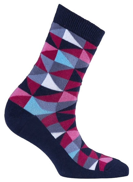 Women's Triangle Crew Socks #4061