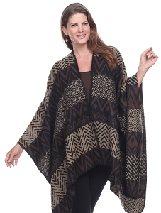 Amazing Colors and Shapes Cape - Brown