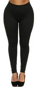 Leggings - Plus Size - 6 Pack - Black