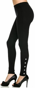 Leggings - Studded - 9 Pack - Black