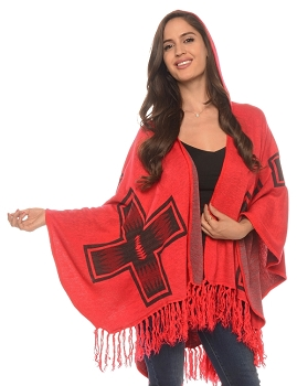 Red Cross Cape with Hood