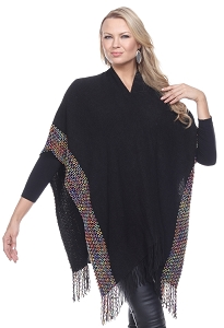 Elegant Cashmere Feel Wrap - Black