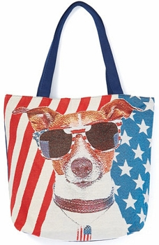 Americana Tote - Dog with Sunglasses