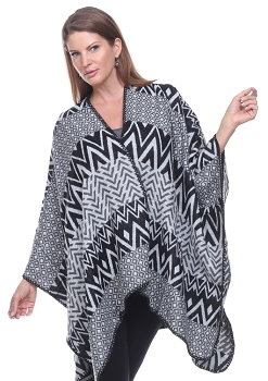 Amazing Colors and Shapes Cape - Black