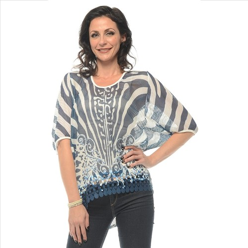 Vibrant Pattern Top - Blue SAMPLE