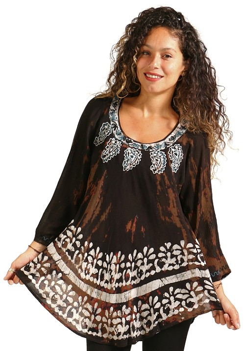 Boho Print Tunic - Brown