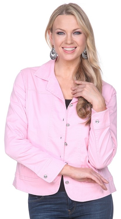 Rhinestone Jacket - Pink SAMPLE