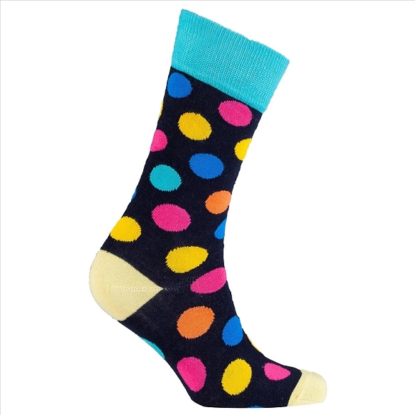 Men's Polka Dot Crew Socks #1059
