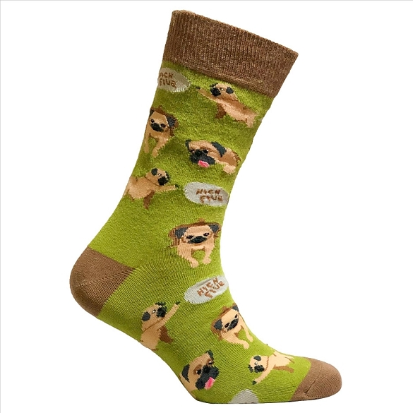 Men's High Five Dog Socks #1329