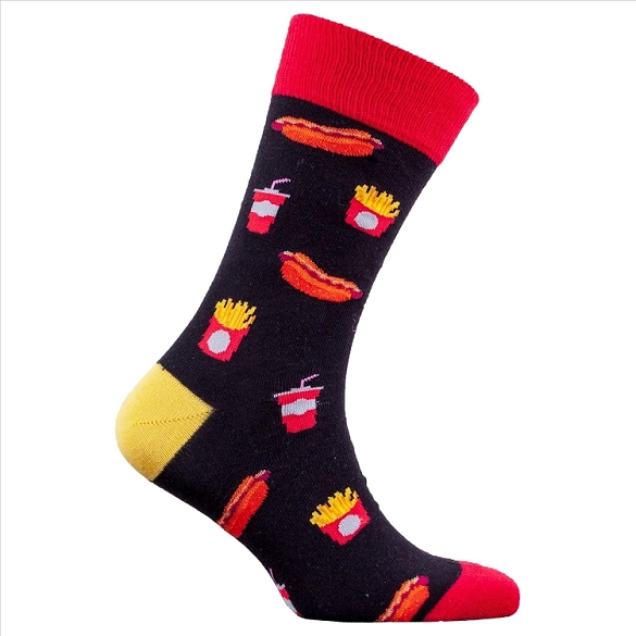 Men's Hot Dog Socks #1341