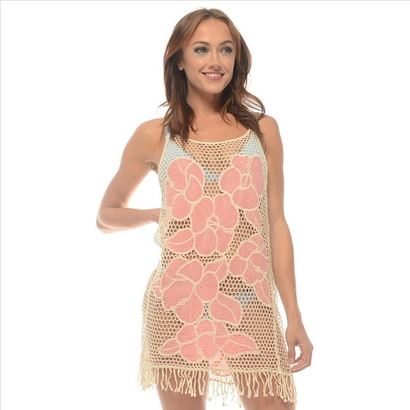 Knit Beach Cover-Up - Pink