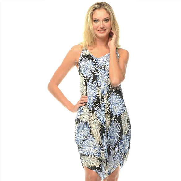 Romper - Abstract Print - Blue