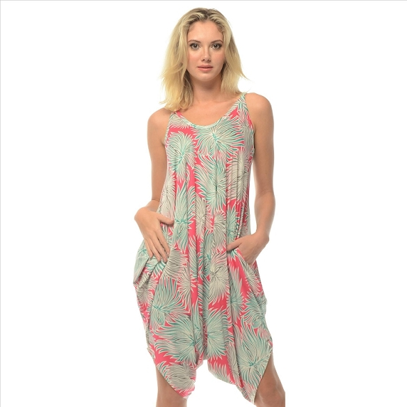 Romper - Abstract Print - Pink