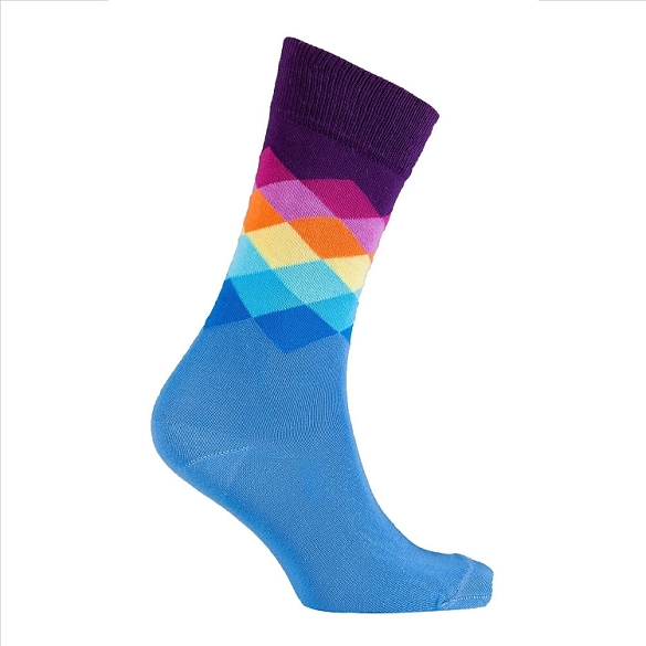 Men's Diamond Crew Socks #1040